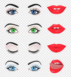 Beauty female eye and lip Royalty Free Stock Image