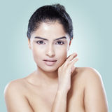 Beauty female model with soft skin Royalty Free Stock Photos