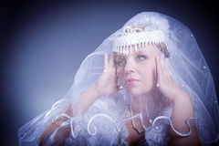 Beauty female wedding studio Royalty Free Stock Photo