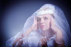 Beauty female wedding studio Royalty Free Stock Photo
