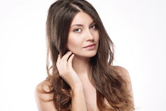 Beauty of femininity. Start taking care about condition of your hair Royalty Free Stock Photo
