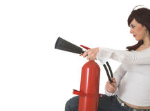 Beauty firefighter Stock Images