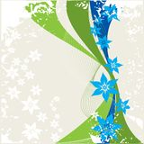 Beauty floral border Stock Images