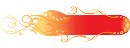 Beauty floral fire banner Royalty Free Stock Images