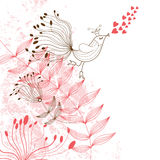 Beauty floral illustration Royalty Free Stock Photos