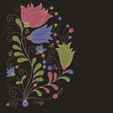 Beauty floral illustration Royalty Free Stock Images