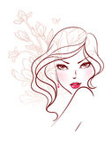 Beauty floral woman Royalty Free Stock Image