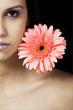 Beauty and flower Stock Image