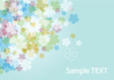 Beauty flower background - blue. Floral vector Royalty Free Stock Photography