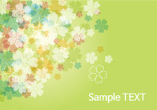 Beauty flower background - green. Beauty flower background -green floral vector Royalty Free Stock Images