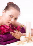 beauty flower spa γυναίκα Στοκ Εικόνα
