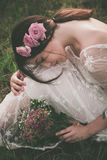 Beauty with flowers in nature Royalty Free Stock Photos
