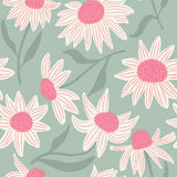 Beauty flowers vector seamless pattern. Stock Photography