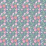Beauty flowers vector seamless pattern. Stock Photos