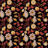 Beauty flowers vector seamless pattern. Stock Photo