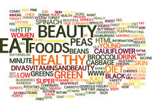 Beauty Foods What You Eat Affects How You Look Word Cloud Concept Royalty Free Stock Photo