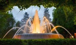 Beauty fountain in Ferrol Royalty Free Stock Photos