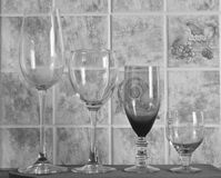The beauty of four glasses Royalty Free Stock Photography