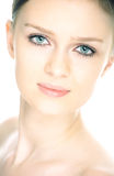Beauty fresh close-up woman portrait. On white background royalty free stock photo