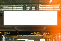 Background large LCD advertisement. Beauty  full blank advertising billboard at airport background large LCD advertisement Royalty Free Stock Photos
