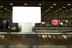Background large LCD advertisement. Beauty  full blank advertising billboard at airport background large LCD advertisement Royalty Free Stock Image