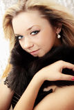 Beauty in the fur. Beautiful young woman with the fur collar Stock Photo