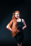 Beauty ginger Girl Portrait. Healthy Long Red Hair. Beautiful Yo Royalty Free Stock Image