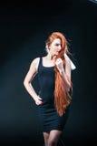 Beauty ginger Girl Portrait. Healthy Long Red Hair. Beautiful Yo Stock Photography