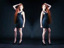 Beauty ginger Girl Portrait. Healthy Long Red Hair. Beautiful Yo Royalty Free Stock Photo