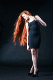 Beauty ginger Girl Portrait. Healthy Long Red Hair. Beautiful Yo Royalty Free Stock Photos