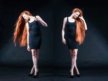 Beauty ginger Girl Portrait. Healthy Long Red Hair. Beautiful Yo Stock Image