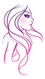 Beauty girl. Vector illustration of Beauty girl Royalty Free Stock Photos