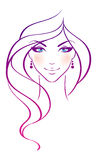 Beauty girl. Vector illustration of Beauty girl Royalty Free Stock Images