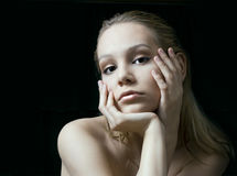 The beauty girl stock photography