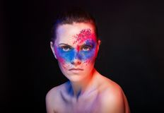 Bright makeup. fashion art woman portrait Royalty Free Stock Image