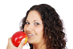 Beauty girl with apple Royalty Free Stock Photo