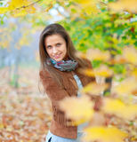 Beauty girl in autumn Royalty Free Stock Photos