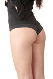 Beauty girl back in black pants Royalty Free Stock Photography