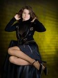 Beauty girl in black Royalty Free Stock Photo