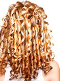 Beauty girl with blonde curly hair Royalty Free Stock Photo