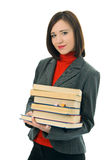 Beauty girl with book Stock Image