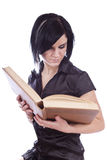 Beauty girl with book Royalty Free Stock Photos