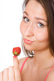 Beauty girl close-up portrait royalty free stock image