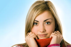 Beauty girl close up portrait Royalty Free Stock Photos