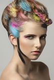 Beauty girl with creative make-up Royalty Free Stock Photo