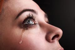Beauty girl cry Stock Photos