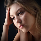 Beauty girl cry Royalty Free Stock Image