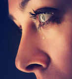 Beauty girl cry Royalty Free Stock Photography