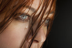Beauty girl cry Stock Photography