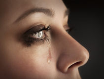 Beauty girl cry Stock Images